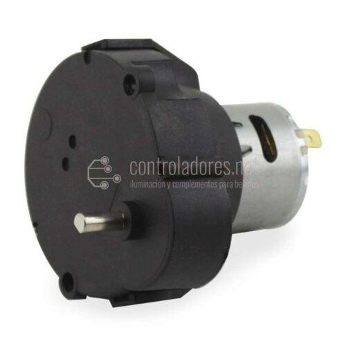 Motor reductor 0.4-0.5 r.p.m. -12V - 4 mm de diámetro