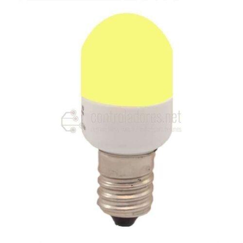 Lámpara 3 leds E14 220V 0.3W AMARILLA