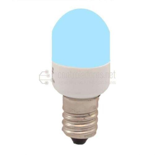 Lámpara 3 leds E14 220V 0.3W AZUL