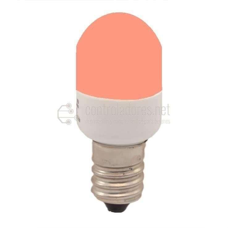 Lámpara 3 leds E14 220V 0.3W ROJA