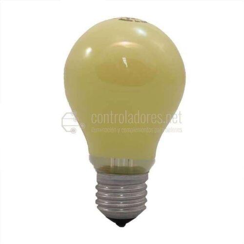 Lámpara estándar 60W 220V E27 de color AMARILLA