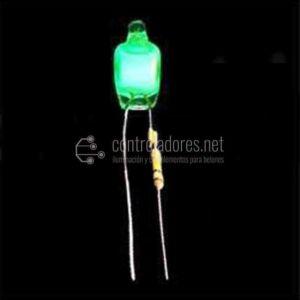 Lampada in microfibra neon 6mm-220V GREEN (unità 5)