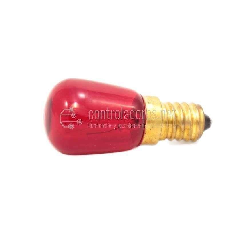 Lámpara 10W de 220V E14 ROJA