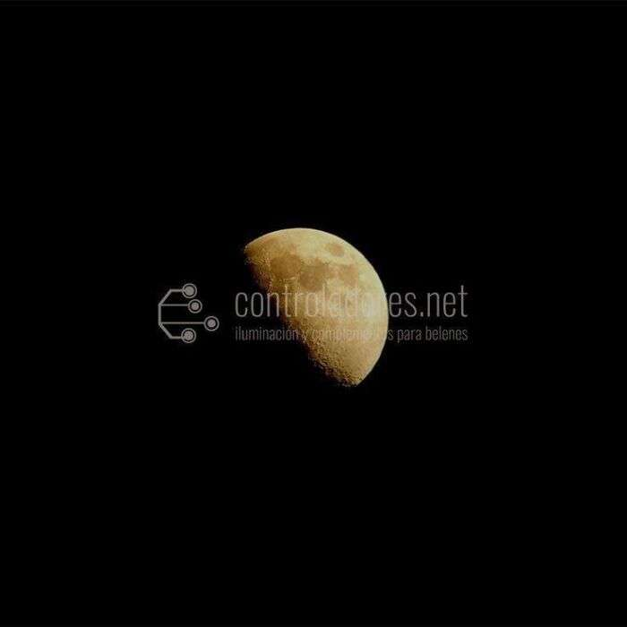 Diapositiva cuarto de luna grande