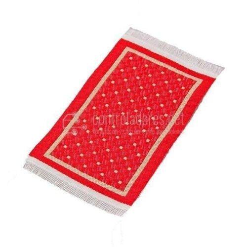 Alfombra mini REVERSIBLE rojo/beige