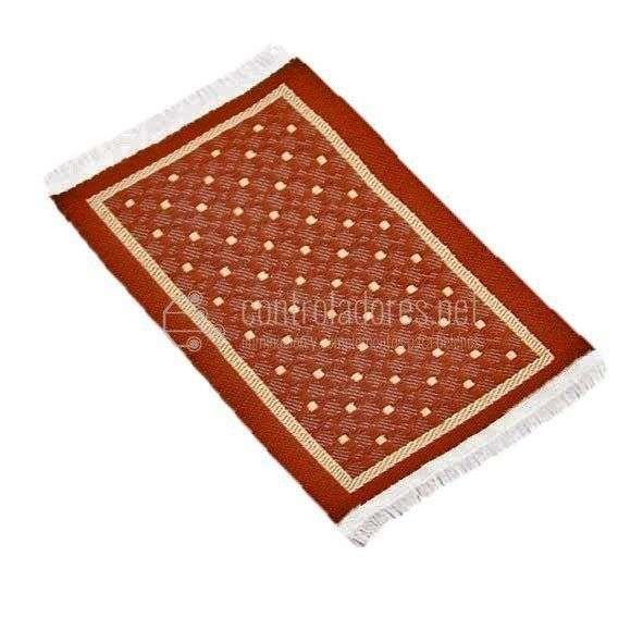 Alfombra mini REVERSIBLE marrón/beige