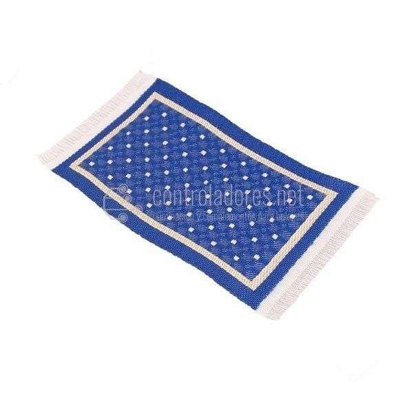 Alfombra mini REVERSIBLE azul/beige