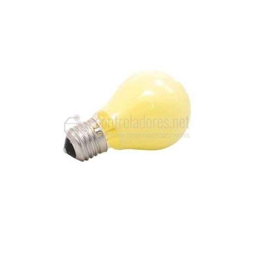 Lámpara esférica de 25W- 220V E27 AMARILLA