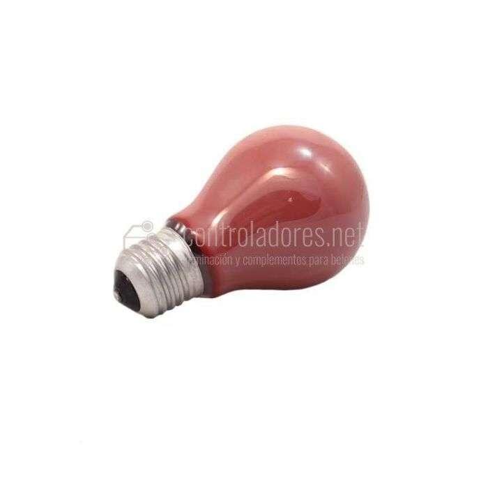 Lámpara esférica de 25W- 220V E27 ROJA