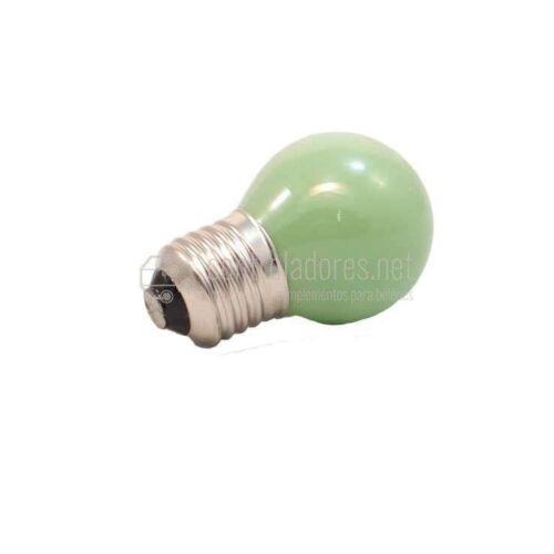 Lámpara esférica de 25W- 220V E27 VERDE