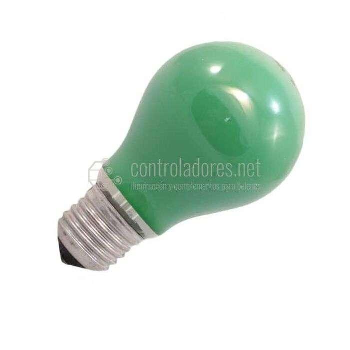 Lámpara estándar 60W 220V E27 de color VERDE