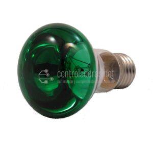 Lámpara reflector R63 40W 220V 35º VERDE