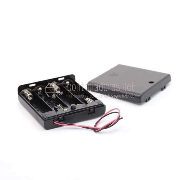 Portapilas 6V con interruptor