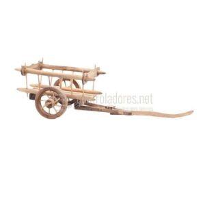 Carro de madera de 10 cm. + 8 cm. pretil