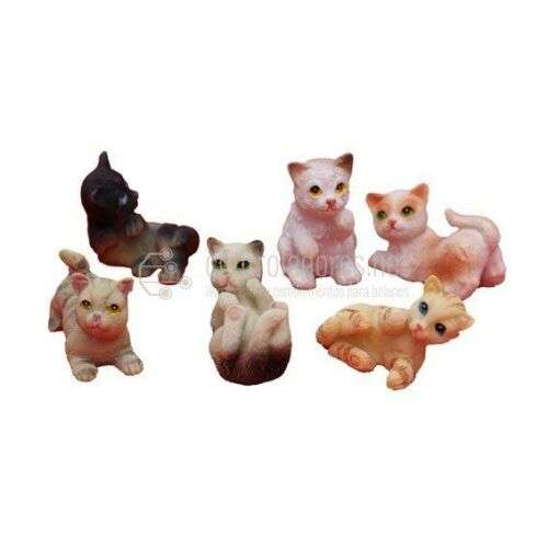 Gatos pequeños 2 cm. (6 und.)