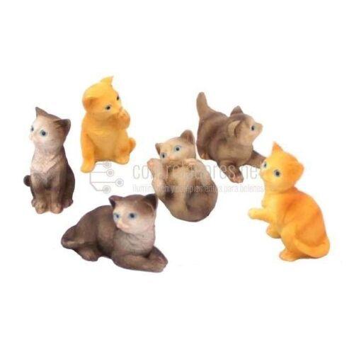 Gatos grandes 4 cm. (6 und.)