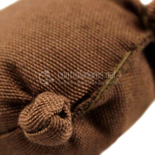 Saco marrón grande cerrado