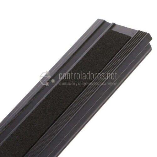 Regla 30 cm. aluminio con sistema antideslizante