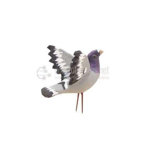 Paloma con alas abiertas para figuras de 16/24 cm. Gris