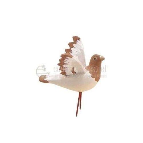 Paloma con alas abiertas para figuras de 16/24 cm. Canela