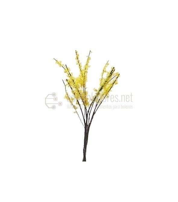 Arbusto en flor. Amarillo (3cm.) (2Uds.)