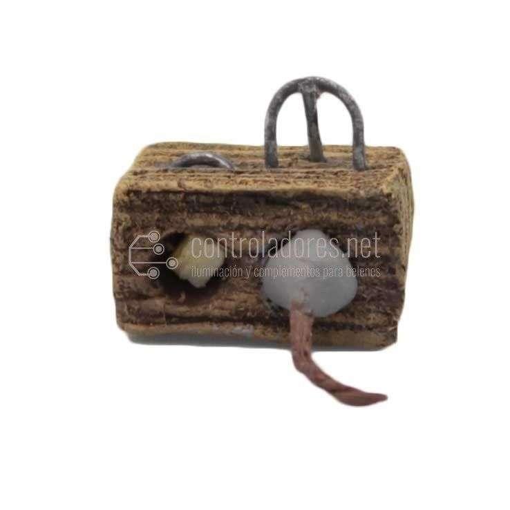 Ratonera con ratón pequeña