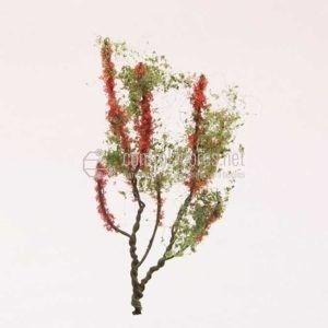 Árbol en flor. Rojo (4cm.)