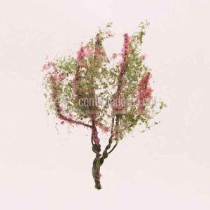 Árbol en flor. Rosa (4cm.)