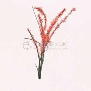 Arbusto en flor. Rojo (3cm.) (2Uds.)