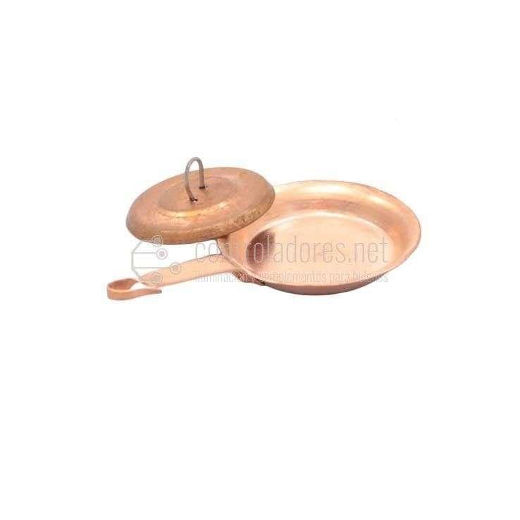 Sartén mediana y Tapadera de cobre