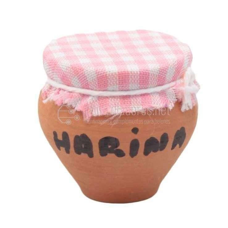 Tarro de cerámica(miel, harina, azúcar) grande