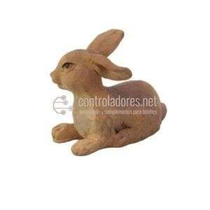 Grupo de 3 conejos de resina de gran calidad