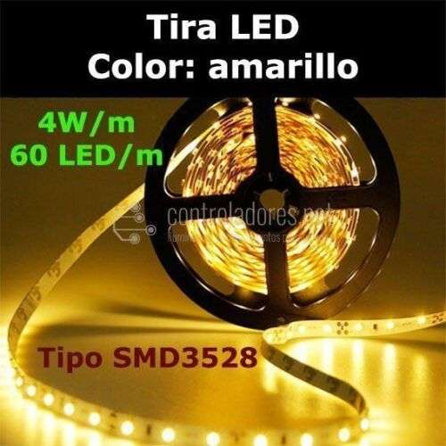 Tira LED AMARILLO 60 LED/m 4W/m