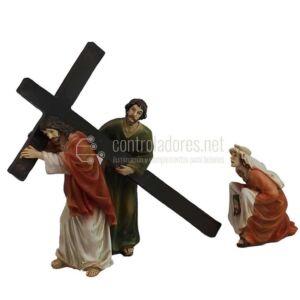 Jesús, Cirineo y Santa Verónica -Vía Crucis
