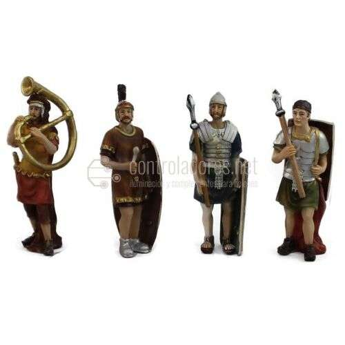 4 Soldados Romanos -Escolta Pilatos