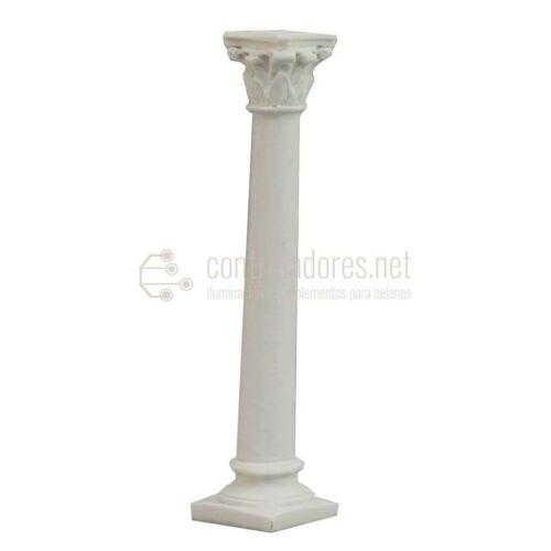 Columna blanca de resina ( 9,5cm.)