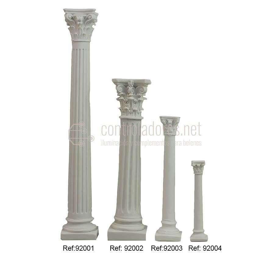 Columna blanca de resina ( 20cm.)