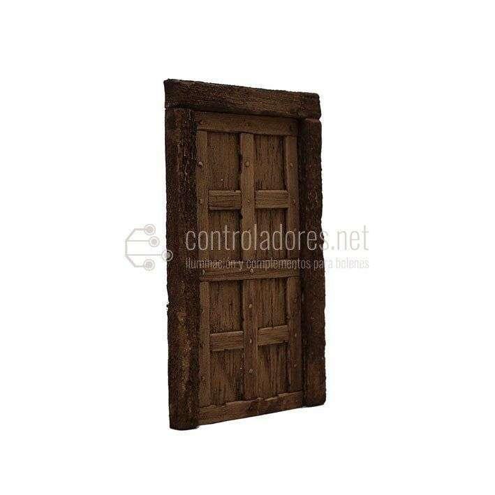 Puerta con bastidor rústica(Modelo 1)