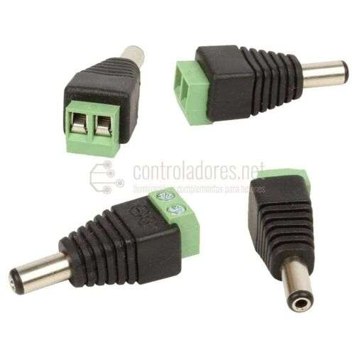 Conector MACHO Jack 2.1x5.5mm DC