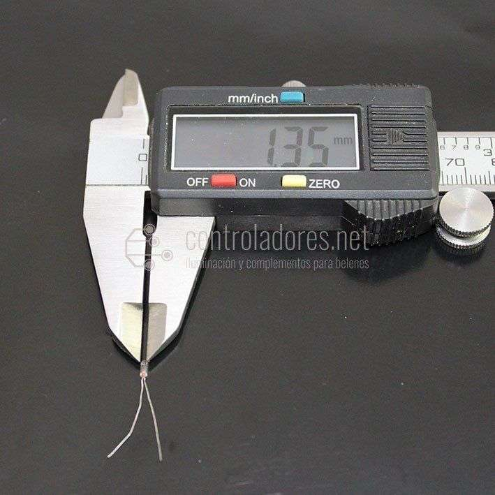 Microlámpara 1.35 mm de diámetro 1.5V c.c.
