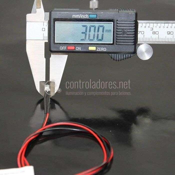 LED 3mm 12V NARANJA efecto llama con cable