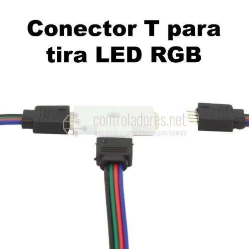 Conector T para tira RGB