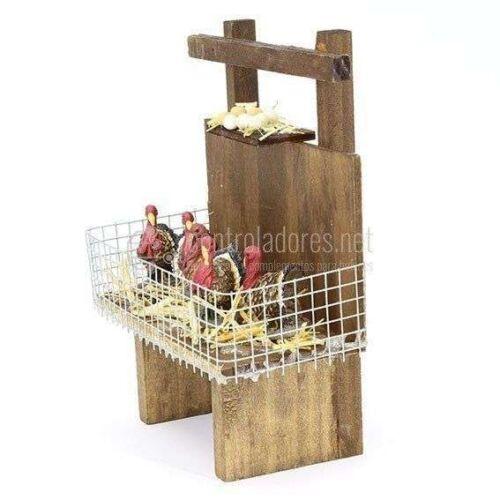 Mesa estantes de pavos
