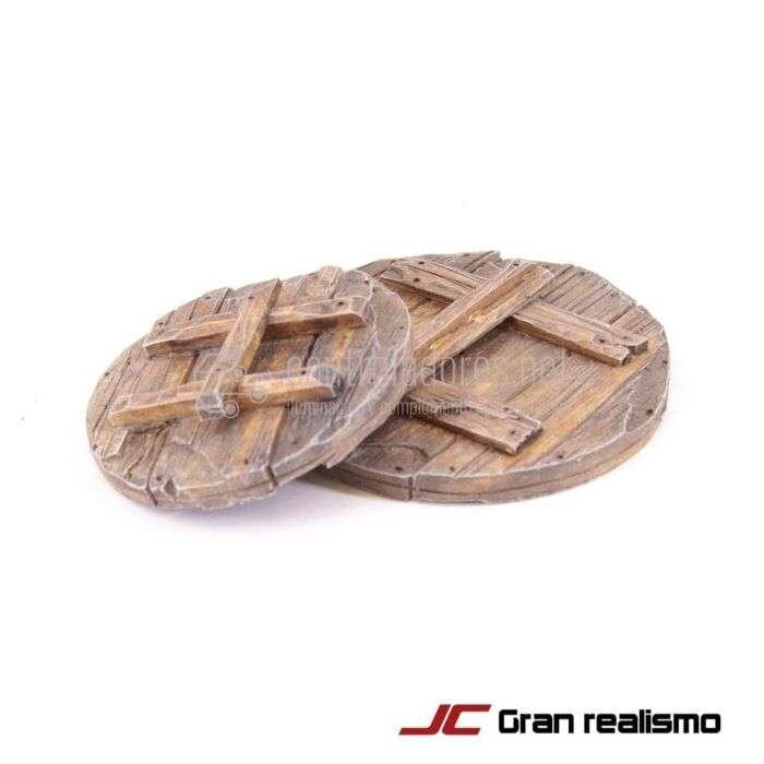 Juego de tapas de madera