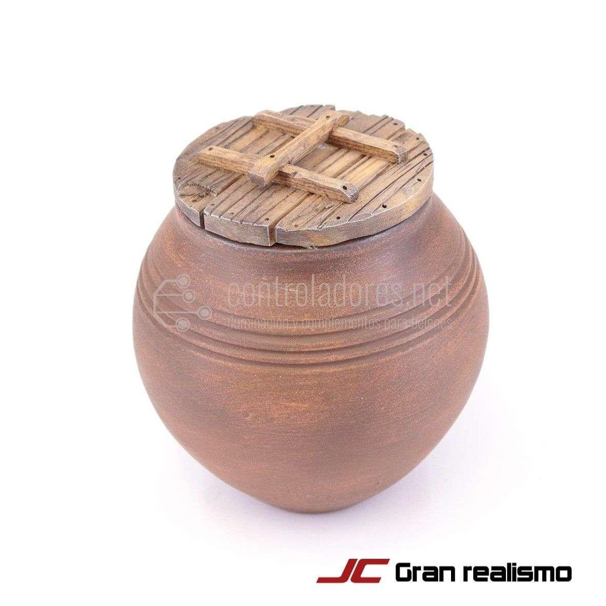 Cerámica con tapa de madera