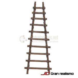 Escalera de madera de pino 29x11 cm