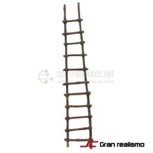 Escalera de madera de pino 48x9 cm