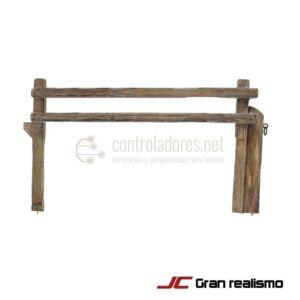 Recinzione stradale in legno di pino 25x14 cm