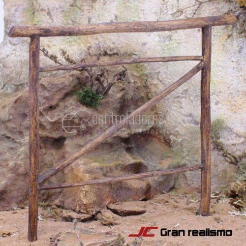 Valla de camino en madera de olivo 16x13 cm