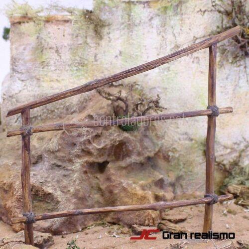 Valla de camino en madera de olivo 15x17 cm